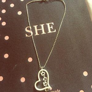 Bebe silver necklace